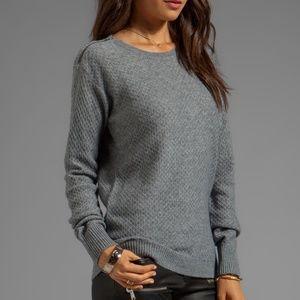 Joie Diamond Stitch Knit Yuliya Sweater Gray